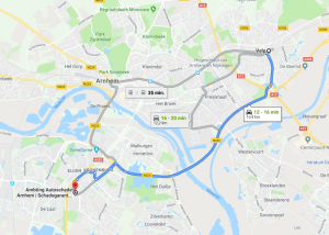 Route van Velp naar Ambring